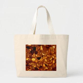 Bolsa Tote Grande Grões ambarinas com iluminação do luminoso