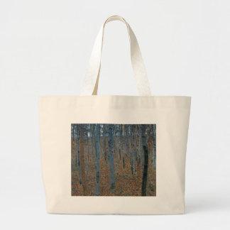 Bolsa Tote Grande Gustavo Klimt - bosque da faia. Animais selvagens