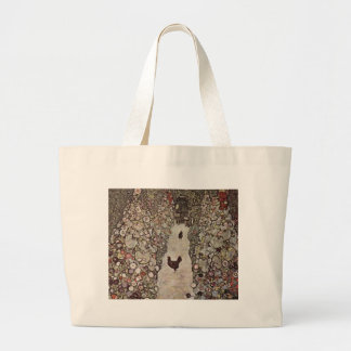 Bolsa Tote Grande Gustavo Klimt - jardim com galos
