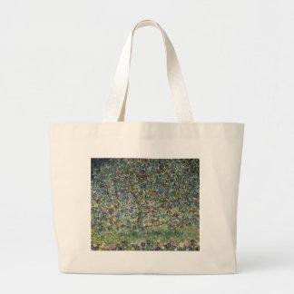 Bolsa Tote Grande Gustavo Klimt - pintura da árvore de Apple