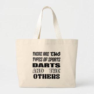 Bolsa Tote Grande Há dois tipos de dardos e de outro dos esportes