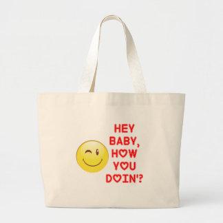 Bolsa Tote Grande Hey bebê…