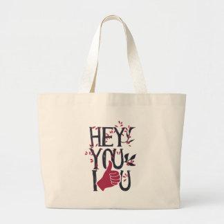 Bolsa Tote Grande Hey você eu te amo