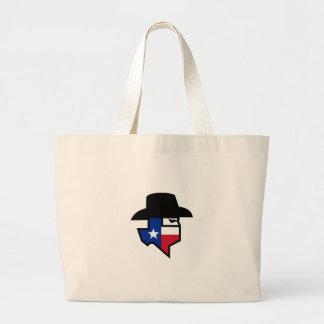 Bolsa Tote Grande Ícone da bandeira de Texas do bandido