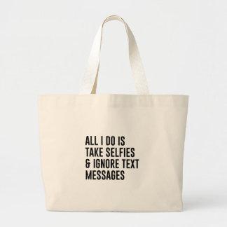 Bolsa Tote Grande Ignore textos