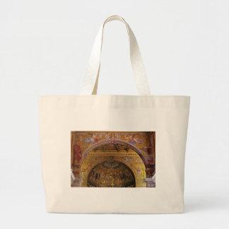 Bolsa Tote Grande igreja ornamentado para dentro