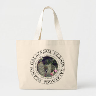 Bolsa Tote Grande Ilhas Galápagos que florescem a sacola do cacto