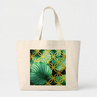 Bolsa Tote Grande Ilustração moderna geométrica das folhas