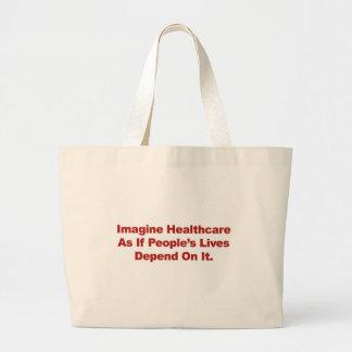 Bolsa Tote Grande Imagine as vidas do pessoa dos cuidados médicos