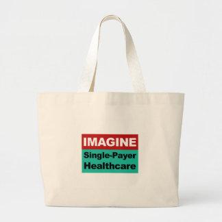 Bolsa Tote Grande Imagine únicos cuidados médicos do pagador