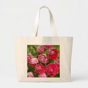 b112fb6e6 Bolsa Tote Grande Impressão bonito das rosas vermelhas