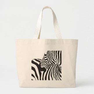 Bolsa Tote Grande Impressão dos animais selvagens, zebra