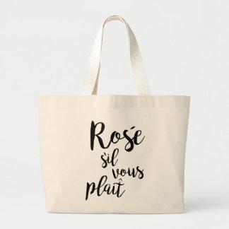 Bolsa Tote Grande Indicação vous da dobra do sil engraçado de Rosé