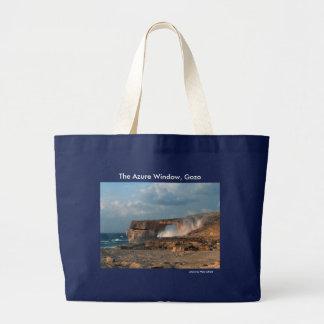 Bolsa Tote Grande Janela Azure, sacola de Gozo