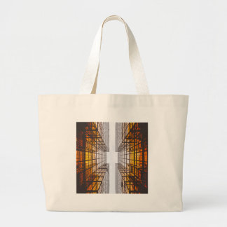 Bolsa Tote Grande janelas das construções da fachada da arquitetura