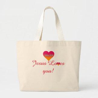 Bolsa Tote Grande Jesus ama-o sacola