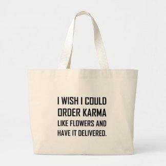 Bolsa Tote Grande Karmas como a piada entregada flores
