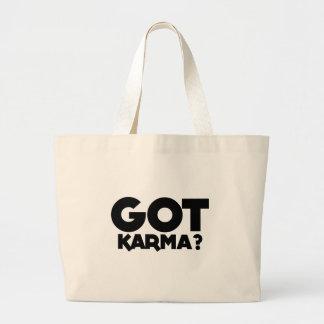 Bolsa Tote Grande Karmas obtidas, palavras do texto