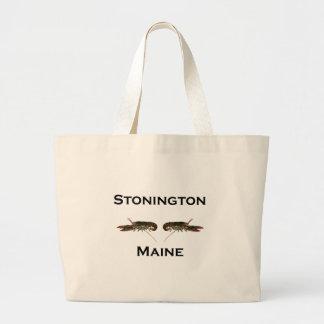 Bolsa Tote Grande Lagostas de Stonington Maine
