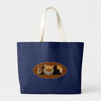 Bolsa Tote Grande Leão e tigre e urso