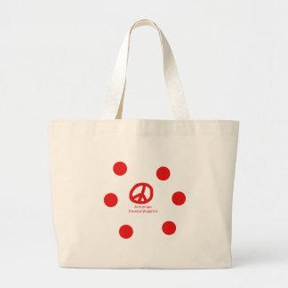 Bolsa Tote Grande Língua e design arménios do símbolo de paz