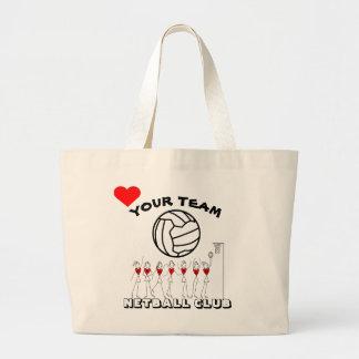 Bolsa Tote Grande Logotipo dos jogadores de equipa e da bola do