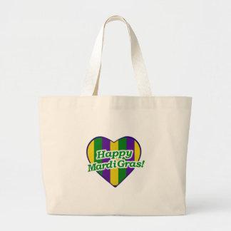 Bolsa Tote Grande Logotipo feliz do carnaval