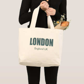 Bolsa Tote Grande Londres, Inglaterra Reino Unido (tipografia)
