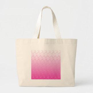 Bolsa Tote Grande Luz às escalas cor-de-rosa escuras