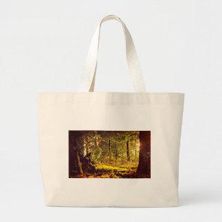 Bolsa Tote Grande Luz na floresta