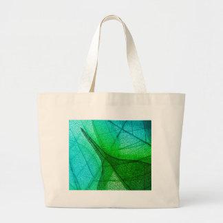 Bolsa Tote Grande Luz solar que filtra através das folhas