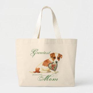 Bolsa Tote Grande Mamã do coração de Russell Terrier