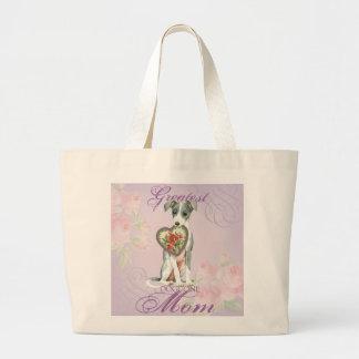 Bolsa Tote Grande Mamã do coração do galgo italiano