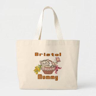 Bolsa Tote Grande Mamã do gato de Bristol