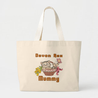 Bolsa Tote Grande Mamã do gato de Devon Rex