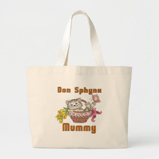 Bolsa Tote Grande Mamã do gato de Don Sphynx