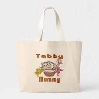 Bolsa Tote Grande Mamã do gato de gato malhado