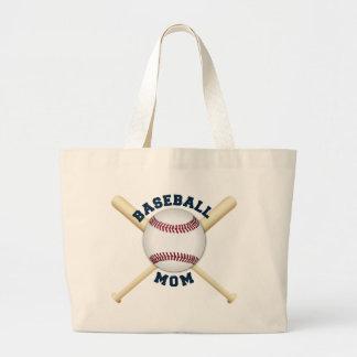 Bolsa Tote Grande Mamã na moda do basebol