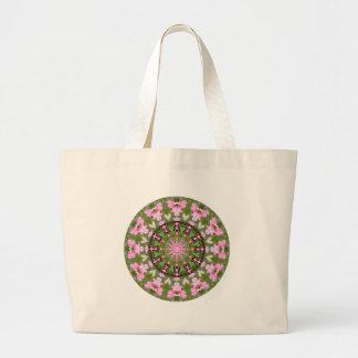 Bolsa Tote Grande Mandala da flor, corações de sangramento 02.0_rd
