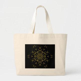 Bolsa Tote Grande Mandala da iluminação