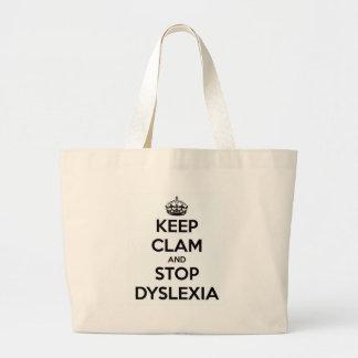 Bolsa Tote Grande Mantenha moluscos e pare a dislexia