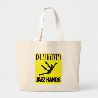 Bolsa Tote Grande Mãos do jazz do cuidado