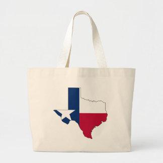 Bolsa Tote Grande Mapa da bandeira de Texas