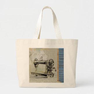 Bolsa Tote Grande Máquina de costura do vintage