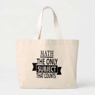 Bolsa Tote Grande Matemática. O único assunto que conta. Piada da