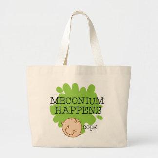 Bolsa Tote Grande Meconium acontece sacola da parteira