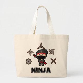 Bolsa Tote Grande Menino preto de Ninja