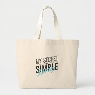 Bolsa Tote Grande Meu segredo é simples mim Pray