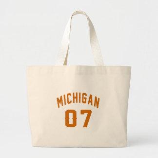 Bolsa Tote Grande Michigan 07 designs do aniversário