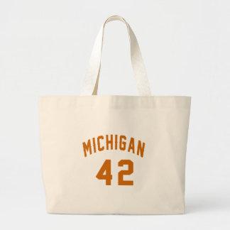 Bolsa Tote Grande Michigan 42 designs do aniversário
